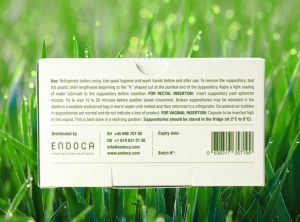 Endoca – CBD Suppositories | 10 sztuk  Czopki, 500 mg CBD