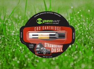 OpenVape – CBD Cartridge Strawberry Diesel | 0,30 g  Wkład do waporyzatora, 100 mg CBD
